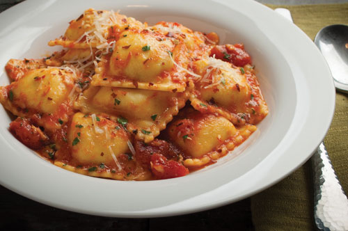 Cheese Ravioli with Arrabbiata Sauce